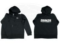 M&Nコーポレーション パーカー - スウェット・ジップアップ #ブラック サイズL 10oz