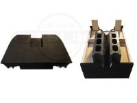 篠工房 ボートデッキ - 折りたたみ式 フラットペダルデッキ10.14ft用ロング ブラック 品番13
