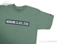 ワーキングクラスゼロ Tシャツ - スタンダード #ミリタリーグリーン Lサイズ