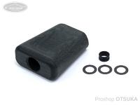 NSクラフト クロスベークノブ - フラットディンプル ワイド #ブラック シマノAタイプ/ダイワSサイズに装着可能