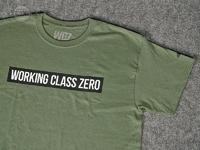 ワーキングクラスゼロ Tシャツ - スタンダード #ミリタリーグリーン XLサイズ