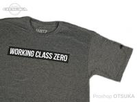 ワーキングクラスゼロ Tシャツ - スタンダードロゴ #チャコールヘザー XLサイズ