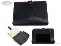 レザースタイルペルフェット レザーミノーケース - VI #ブラック/レッドステッチ 外寸13cmX9.5cmX2.5cm
