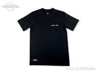 スイムベイトアンダーグラウンド Tシャツ - エンブロイダードロゴポケット #ブラック XLサイズ