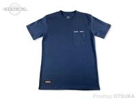 スイムベイトアンダーグラウンド Tシャツ - エンブロイダードロゴポケット #ネイビー XLサイズ
