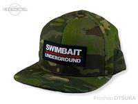 スイムベイトアンダーグラウンド ハット - SUロゴロックアップパッチ #トロピックマルチカム フリーサイズ
