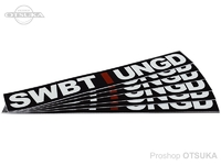 スイムベイトアンダーグラウンド ステッカー - SU アンスタックロゴトランスファー #ブラック 約23cm