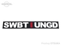 スイムベイトアンダーグラウンド ステッカー - SU アンスタックロゴ #ブラック 約23cm