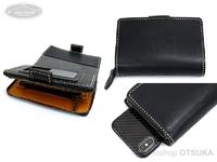 レザースタイルペルフェット レザーモバイルフォンウォレット -  #ブラック 15X10.5X4.5cm