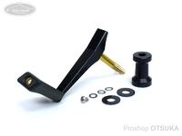 NSクラフト カーディナルROBOシングル - CCS45F 左ヒネリKR黒 #シャフトMBK/CCポストMBK 45mm  ダイワ、シマノノブ装着可能