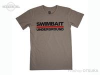 スイムベイトアンダーグラウンド Tシャツ - SU ロゴロックアップ2020 #ライトグレー Lサイズ