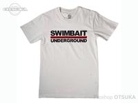 スイムベイトアンダーグラウンド Tシャツ - SU ロゴロックアップ2020 #ホワイト Mサイズ