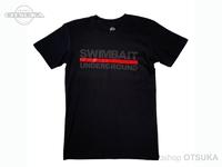 スイムベイトアンダーグラウンド Tシャツ - SU ロゴロックアップ2020 #ブラック Sサイズ