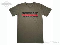 スイムベイトアンダーグラウンド Tシャツ - SU ロゴロックアップ2020 #オリーブヘザー XLサイズ