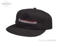 スイムベイトアンダーグラウンド ハット - SU ワードマークアンストラクタード5パネル #ブラック フリーサイズ