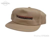 スイムベイトアンダーグラウンド ハット - SU ワードマークアンストラクタード5パネル #カーキ フリーサイズ