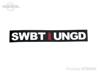 スイムベイトアンダーグラウンド ステッカー - SU アンスタックイニシャルロッド #ブラック 4インチ