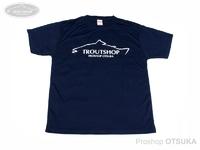 オオツカオリジナル オリジナルTシャツ - トラウトショップ ドライシルキータッチTシャツ #ネイビー XLサイズ 身丈74cm 身幅57cm 肩幅49cm