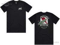 DRTディビジョンレーベルタックル コラボアイテム - ウェポンオブバスディストラクション Tシャツ #ブラック XLサイズ