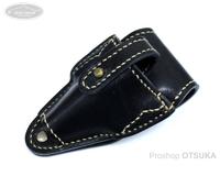 レザースタイルペルフェット ルアーリターンケース -  #ブラック/ベージュステッチ 約13cmX7.5cm