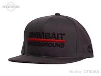 スイムベイトアンダーグラウンド ハット - SU 6パネルロゴロックアップ #チャコール/ブラック フリー