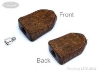 スプリームスタイル ハンドルノブ - アブ用ベイト平ヒネリ(アベイルハンドル対応) #ハワイアンコア4A(1) 全長25ミリ 厚み7ミリ