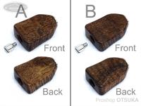 スプリームスタイル ハンドルノブ - アブ用ベイト平ヒネリ 2個セット(アベイルハンドル対応) #ハワイアンコア4A(2) 全長25ミリ 厚み7ミリ