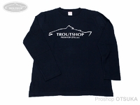 オオツカオリジナル オリジナルTシャツ - トラウトショップ Tシャツ(長袖) #ブラック/文字・シルバー XLサイズ 身丈77cm 身幅58cm 肩幅52cm