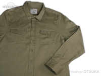 ワーキングクラスゼロ シャツ - スタンダードロゴボトムアップ #グリーン XLサイズ