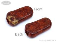 スプリームスタイル ハンドルノブ - カーディナル用ワンオフモデル #本花梨瘤紅白(5) 全長31mm 厚さ9mm