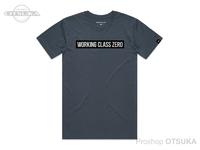 ワーキングクラスゼロ Tシャツ - スタンダードロゴ #ペトロールブルー XLサイズ