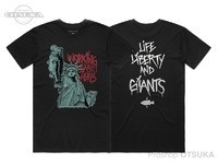 ワーキングクラスゼロ Tシャツ - リバティーバス アーティストシリーズ #ブラック Lサイズ