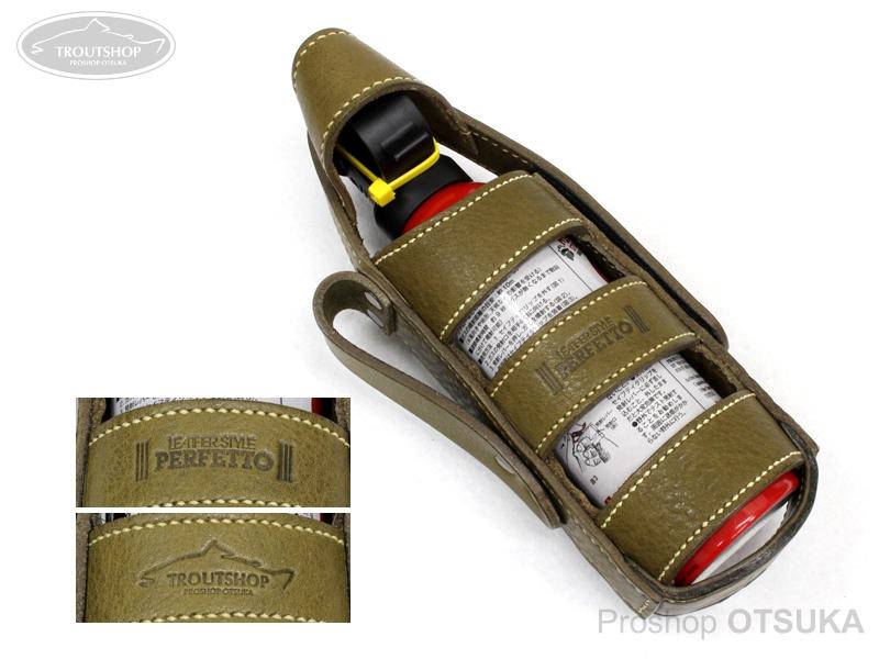 レザースタイルペルフェット レザークマよけスプレーケース レザーカウンターアソールトケース CA230(黒)CA290(赤)兼用サイズ #オイルドカーキ(ベージュステッチ)