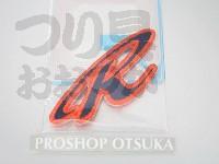 ロデオクラフト ワッペン - ロゴ(R) ネイビー×オレンジ 裏に糊付き