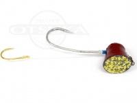 石丸産業 オリジナル1つテンヤ - 5号 赤金 親針19号 孫針5号
