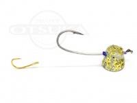 石丸産業 オリジナル1つテンヤ - 6号 金ラメ 親針19号 孫針5号