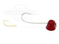 石丸産業 オリジナル1つテンヤ - 3号 赤 親針18号 孫針5号