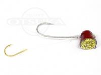 石丸産業 オリジナル1つテンヤ - 3号 赤金 親針18号 孫針5号