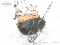 K-ROガイドサービス トップウォーター - サンダルン  #オレンジ/ブラック(ラバーの色はランダムです) ツートンカラー