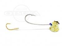 石丸産業 オリジナル1つテンヤ - 3号 グロー金ラメ 親針18号 孫針5号