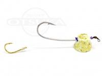 石丸産業 オリジナル1つテンヤ - 4号 グロー金ラメ 親針18号 孫針5号