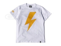 バスブリゲード Tシャツ - ボルト #ホワイト/イエロー Lサイズ