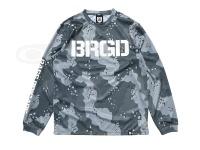 バスブリゲード Tシャツ - UVカットロングスリーブ #レイクカモグリーン Mサイズ ポリエステル100%