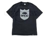 バスブリゲード Tシャツ - シールドロゴPSO  #ブラック/シルバー Sサイズ