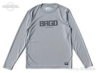バスブリゲード Tシャツ - BRGDロゴ パフォーマンスロングスリーブ #シルバー/チャコール Mサイズ USAサイズ ポリエステル100%