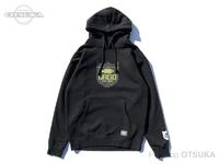 バスブリゲード スウェットシャツ - ファイターシールド プルオーバーフーディー #ブラック Mサイズ USAサイズ