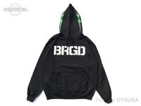 バスブリゲード スウェットシャツ - BASS ボルトフーディー #ブラック Sサイズ