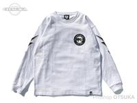 バスブリゲード Tシャツ - BB CA ボーンロングスリーブ #ホワイト XLサイズ