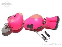 フロッグプロダクツ 2021 干支ルアー - ウッド牛ドール #ピンク牛カラー