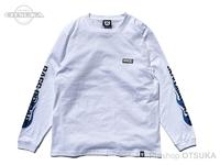 バスブリゲード Tシャツ - BRGDフレイム ロングスリーブ #ホワイト/ブルー Lサイズ